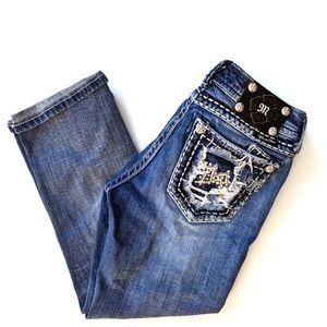Miss Me Cropped Jeans Capri 28